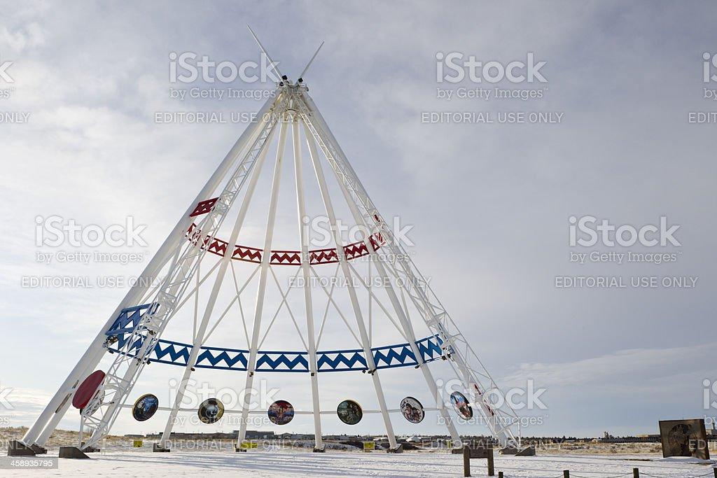 Saamis Tepee - Medicine Hat, Alberta stock photo