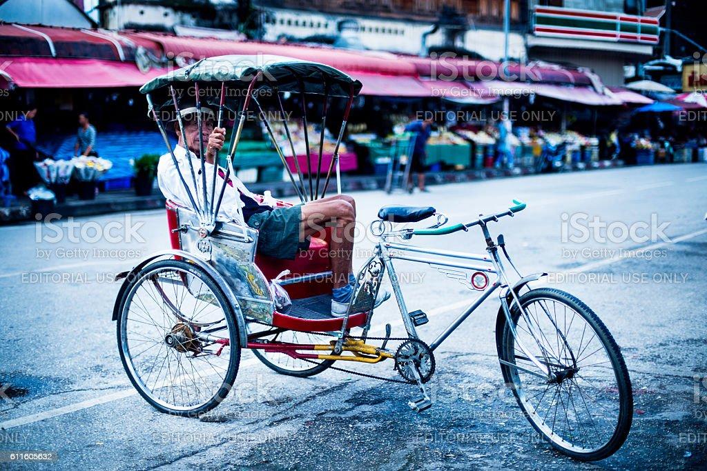 Saamlor Rider Resting stock photo