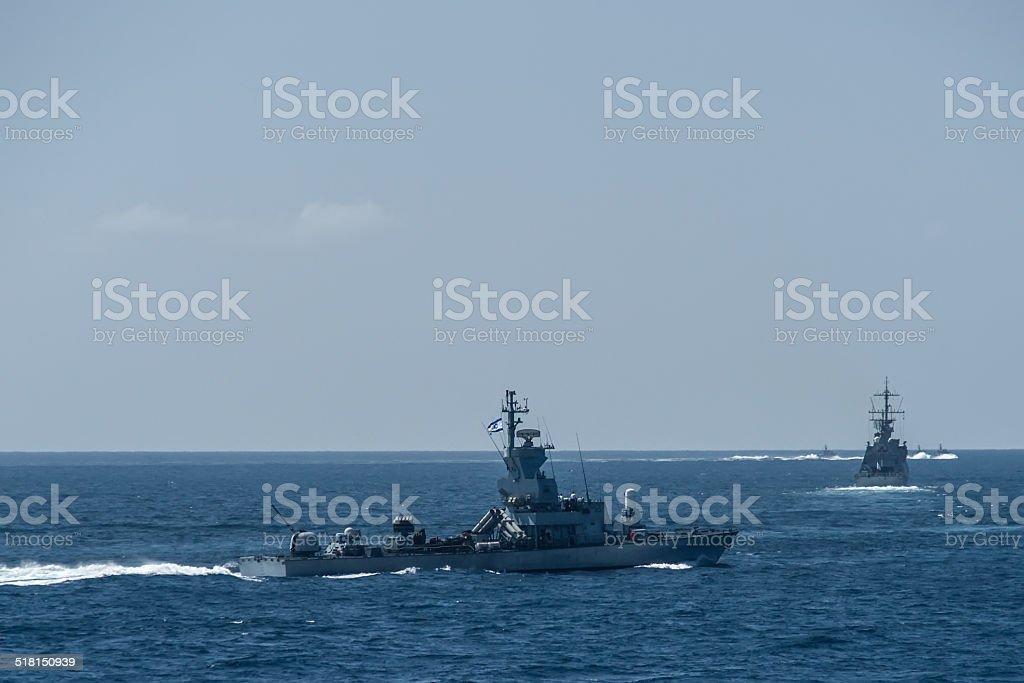 Sa'ar 4.5-class missile boat stock photo