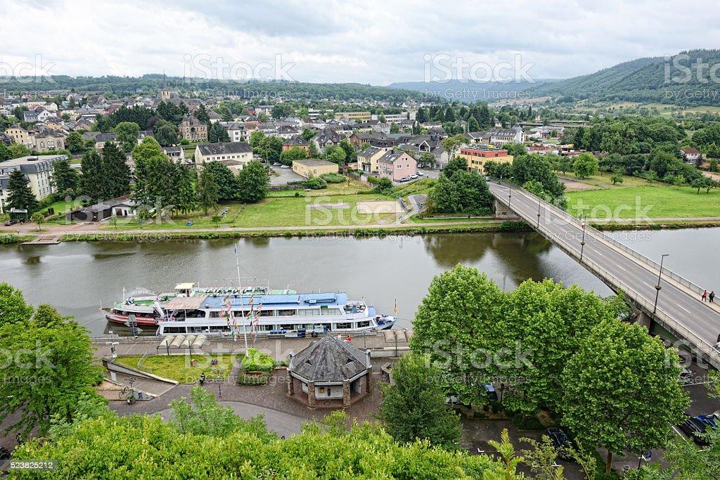 Saarburg at Saar river stock photo