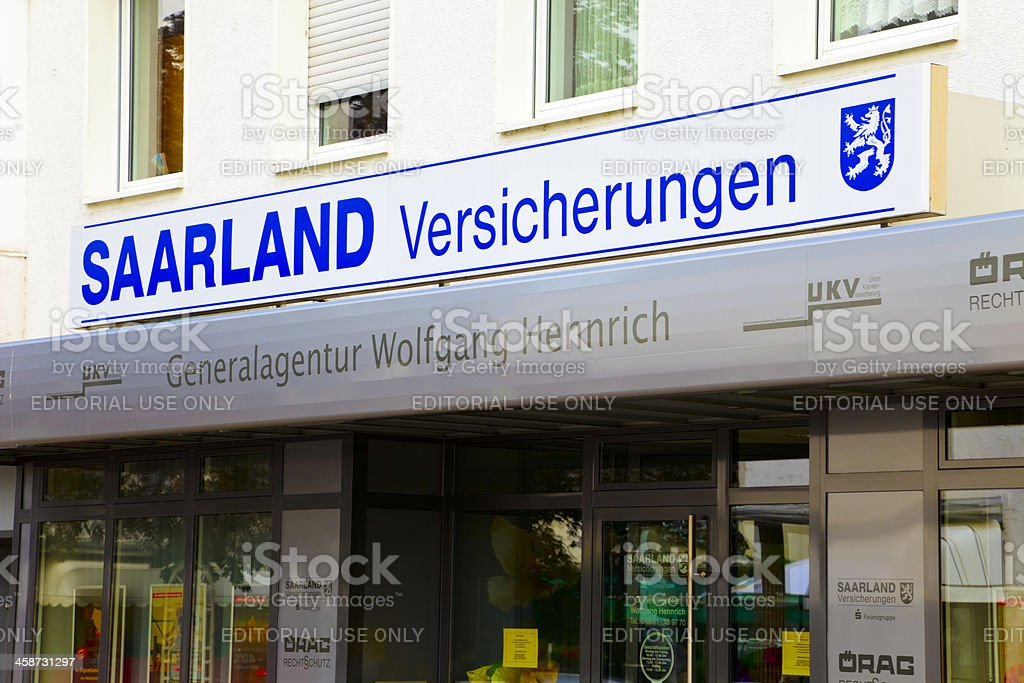 Saarland Insurance royalty-free stock photo