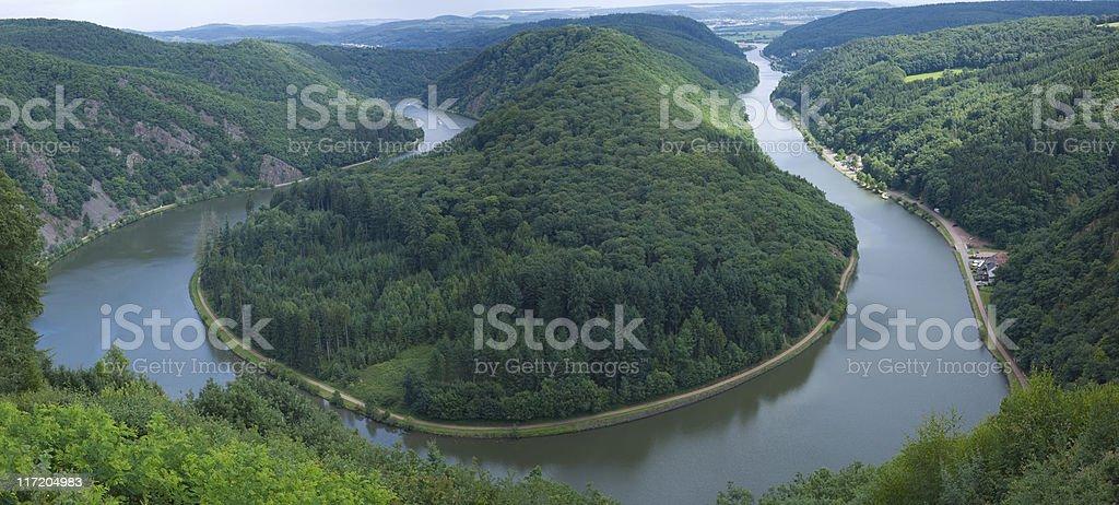 Saarschleife - river Saar stock photo