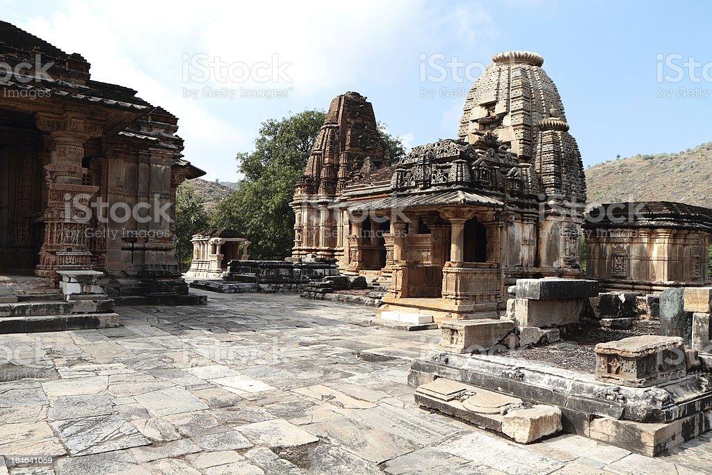 Saas Bahu Temple, Nagda, Rajasthan, India. stock photo