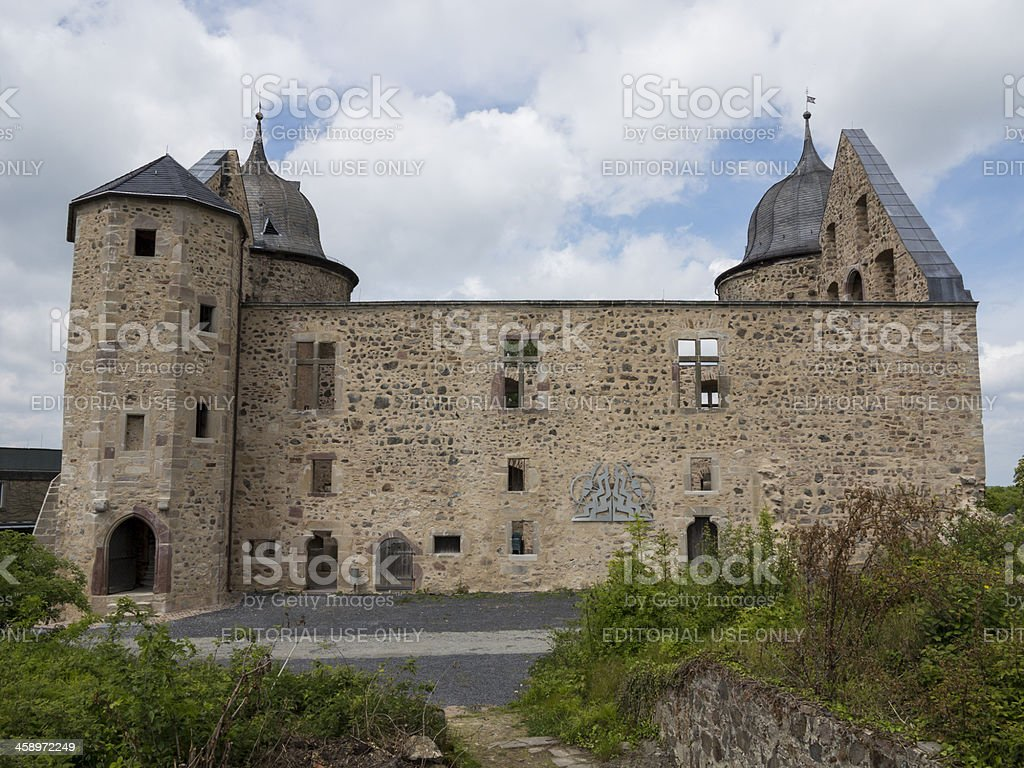 Sababurg, Sleeping Beauty's castle, Germany stock photo