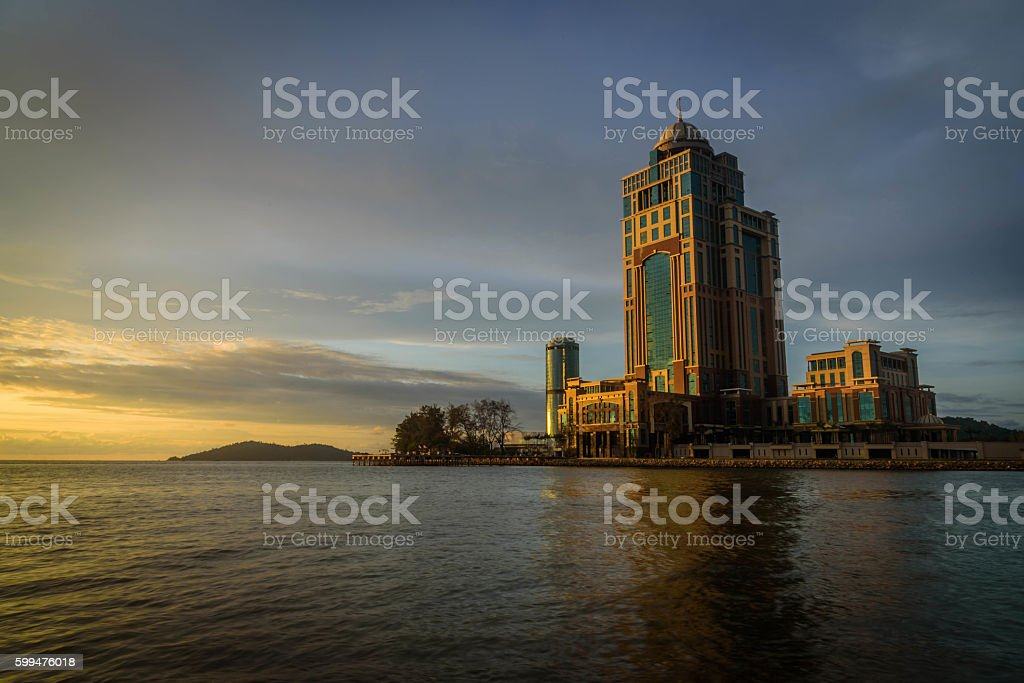 Sabah Capital Building stock photo