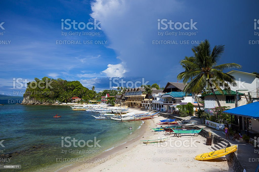 Sabang, Philippines - Storm front stock photo