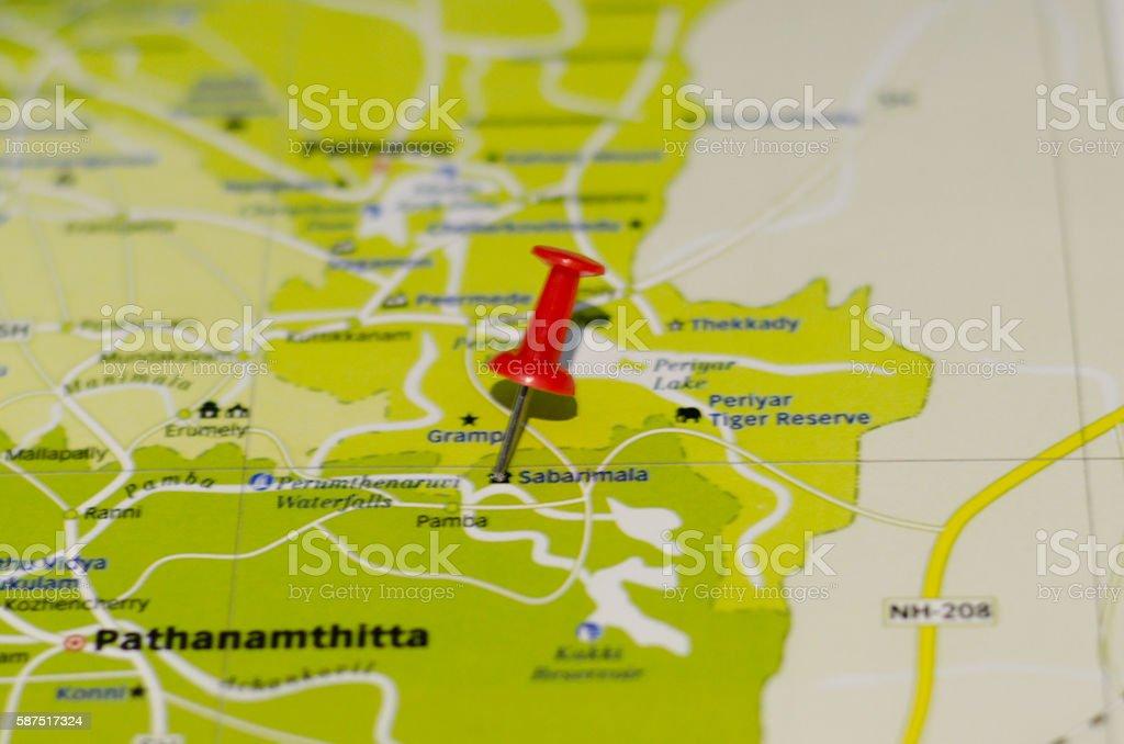 Sabarimala map stock photo