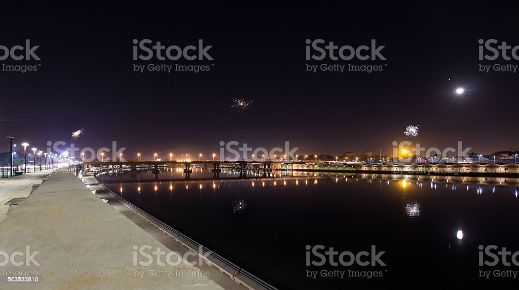 Sabarmati Riverfront – Ahmedabad, India stock photo