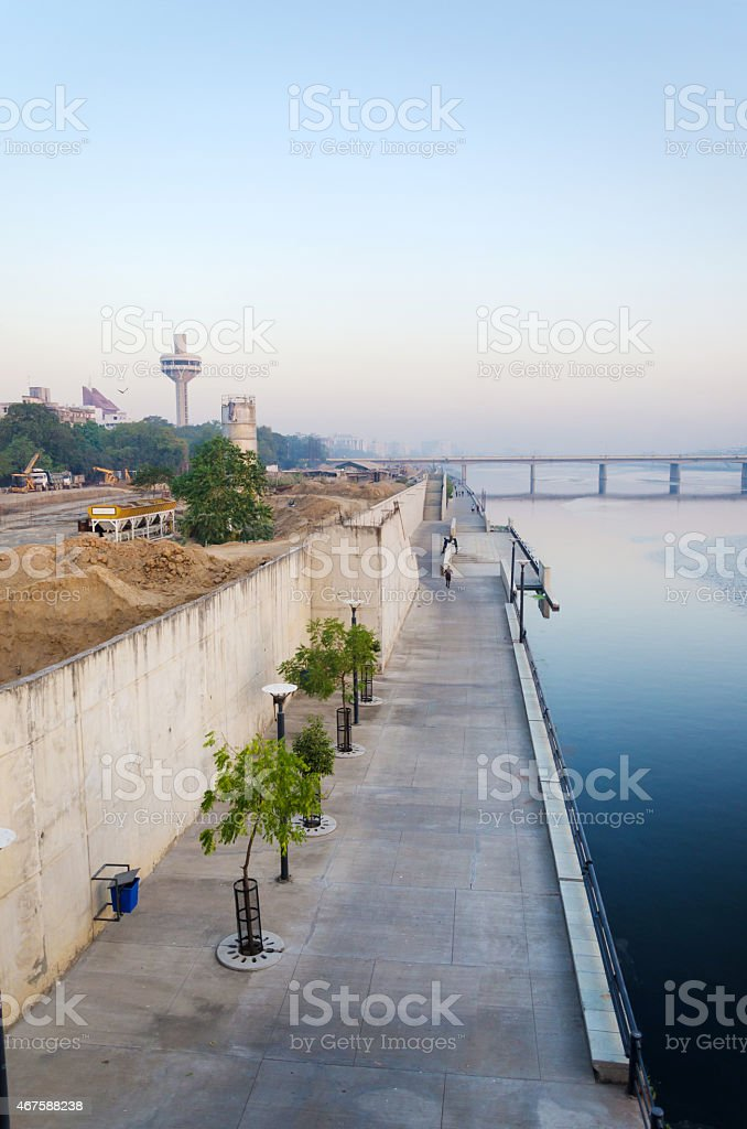 Sabarmati Riverfront in Ahmedabad stock photo