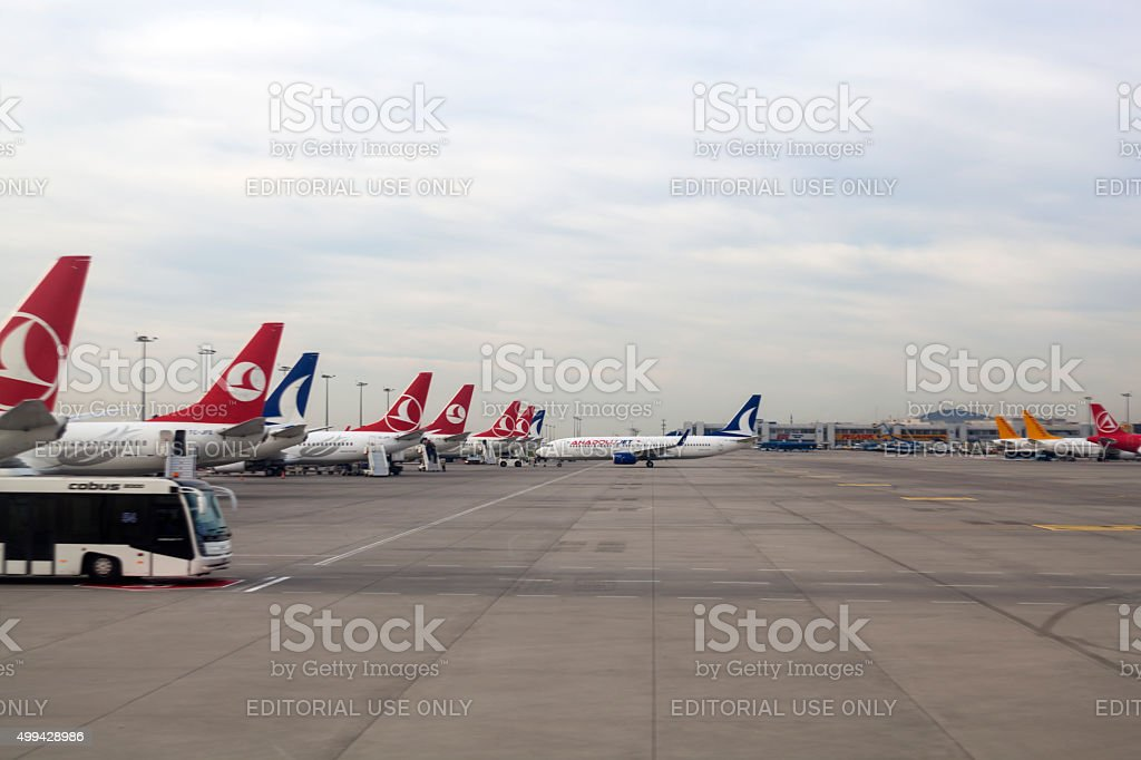 Sabiha Gokcen Airport in Istanbul stock photo