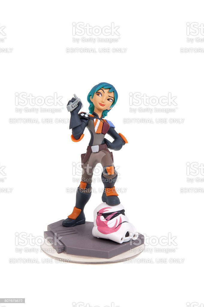 Sabine Wren Disney Infinity 3.0 Figurine stock photo