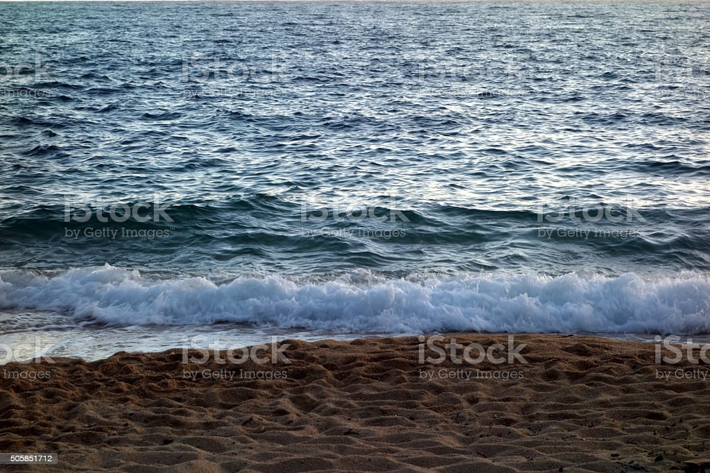 Sable et plage stock photo