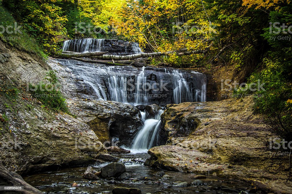 Sable Falls In Pictured Rocks National Lakeshore stock photo