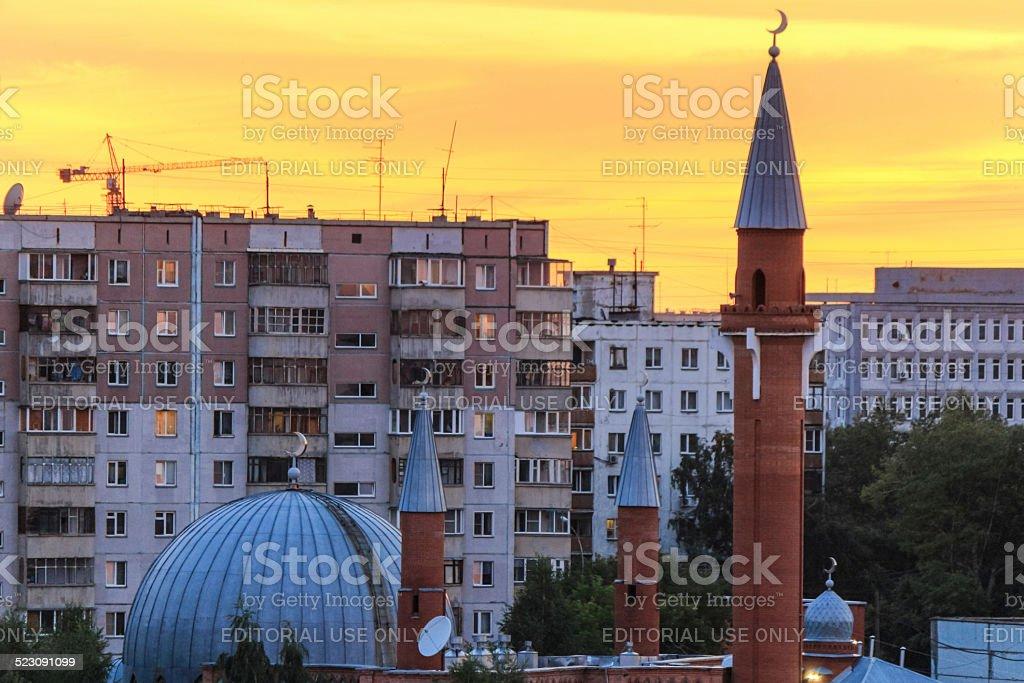 Sabornaya mosque in Novosibirsk stock photo