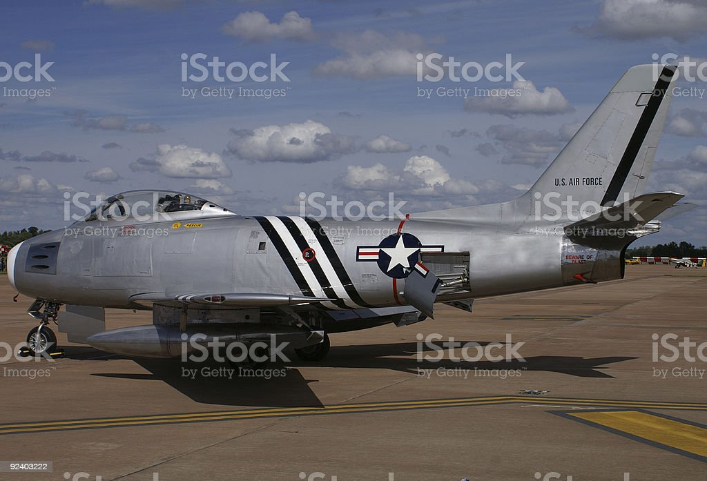 F86 Sabre fighter aircraft stock photo