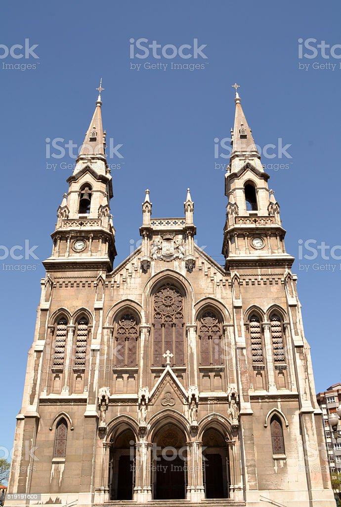 Sabugo new Church in Aviles, Spain stock photo