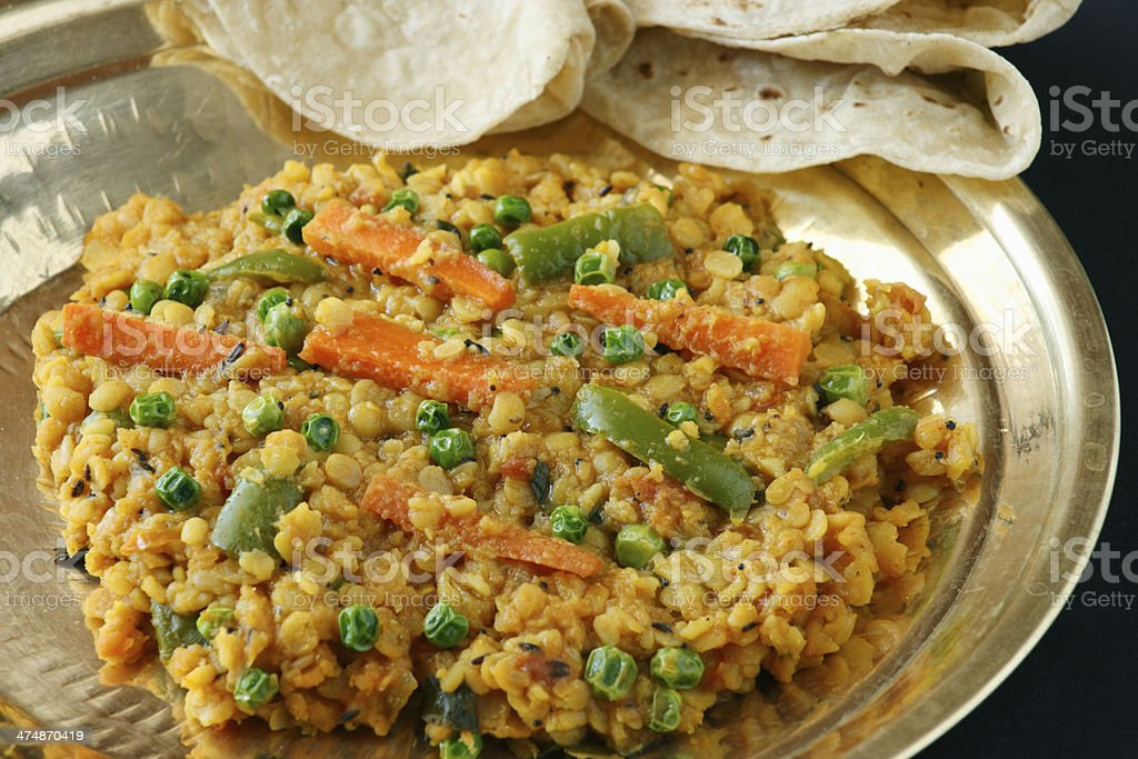 Sabzi dal is a combination of lentil and spices stock photo