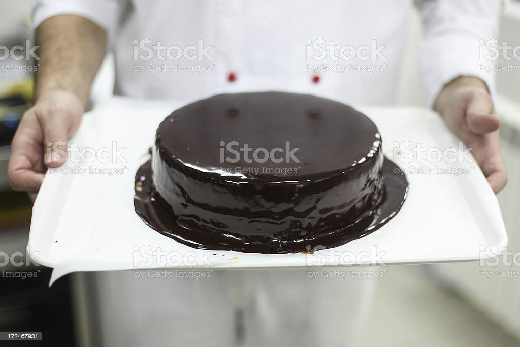 Sacher cake royalty-free stock photo