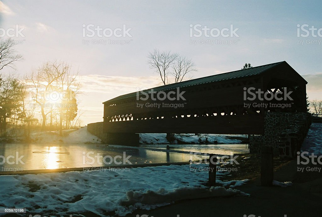 Sachs Covered Bridge Gettysburg stock photo