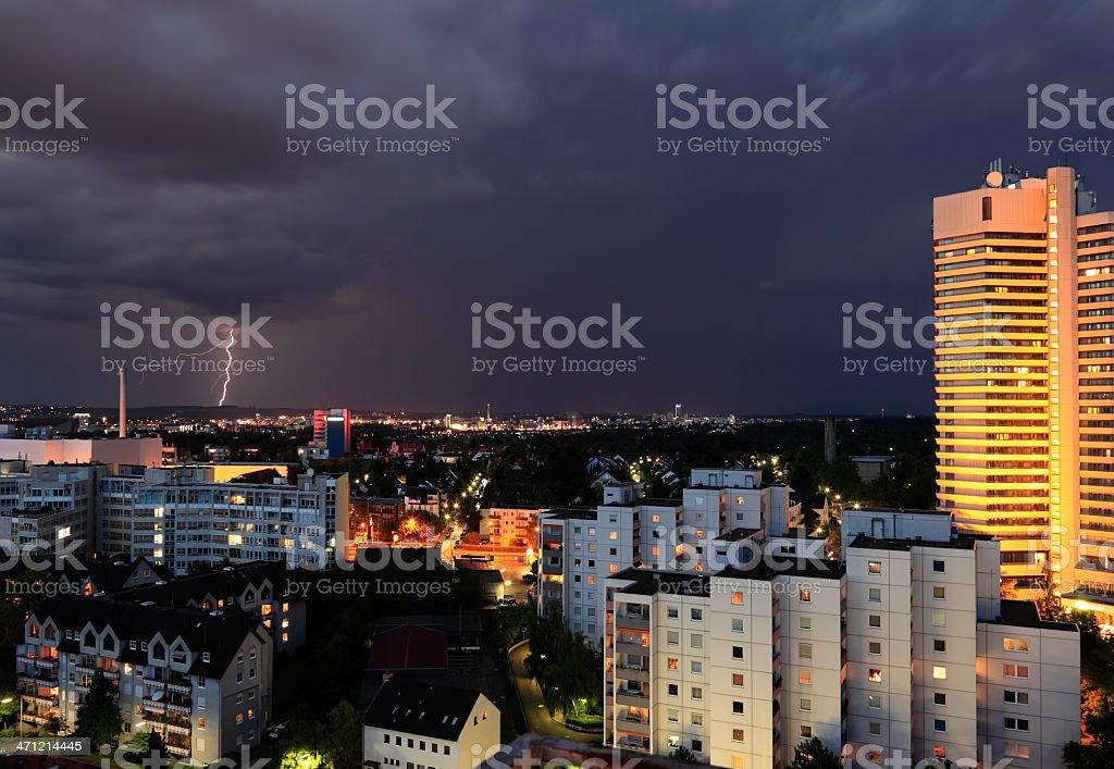 Sachsenhausen Lightning royalty-free stock photo