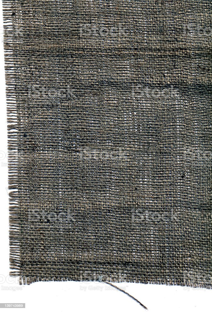 Sack Cloth Edge Left royalty-free stock photo