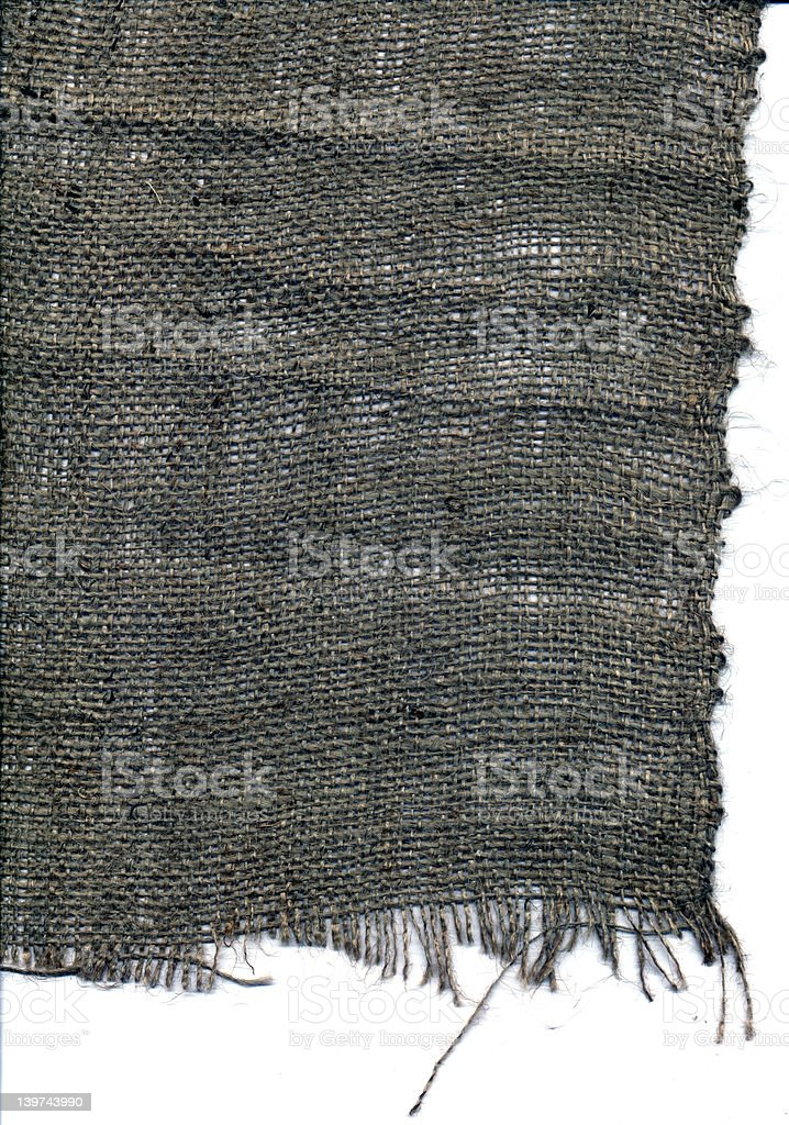 Sack Cloth Edge Right royalty-free stock photo