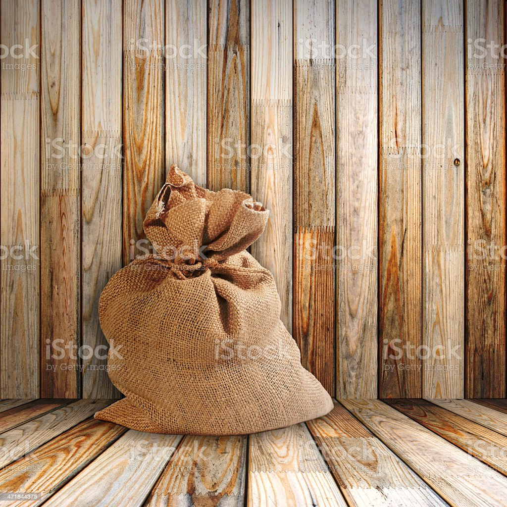 sack in old room royalty-free stock photo