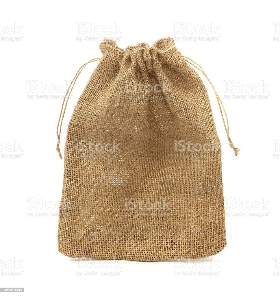 sack isolated on white background stock photo