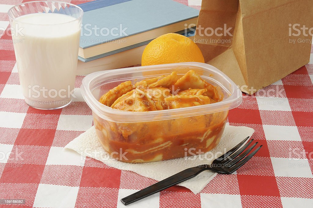 Sack lunch royalty-free stock photo