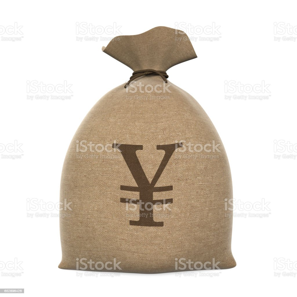 Sack Money Yen stock photo