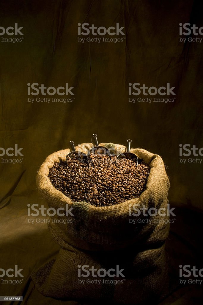 Sack of Coffee Beans royalty-free stock photo