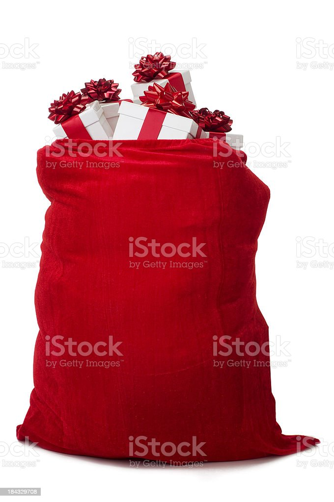 Sack of Gifts royalty-free stock photo