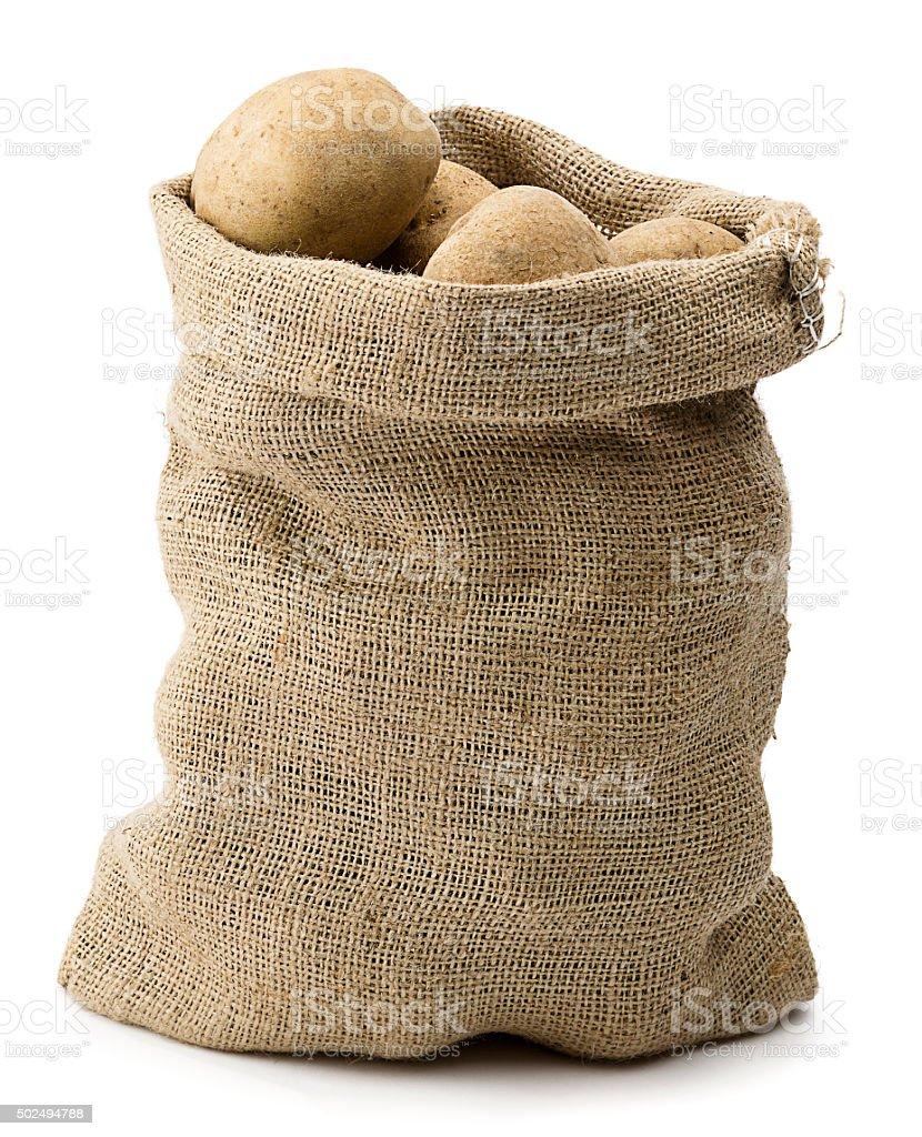 Sack of Potato stock photo