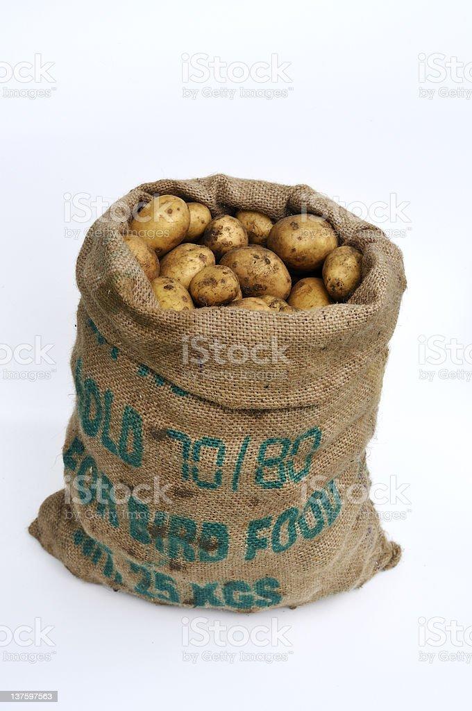 Sack of Potatoes royalty-free stock photo