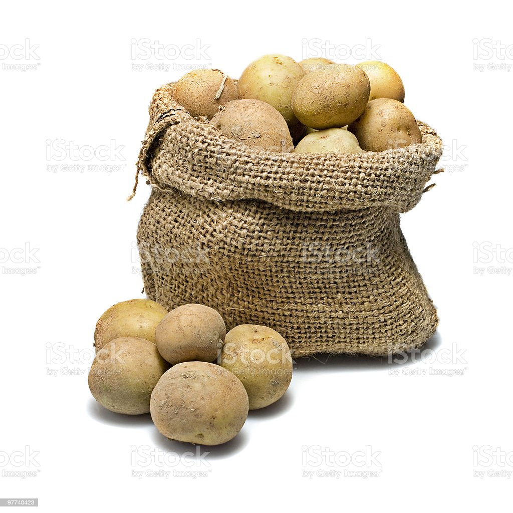 Sack of potatoes royalty-free stock photo