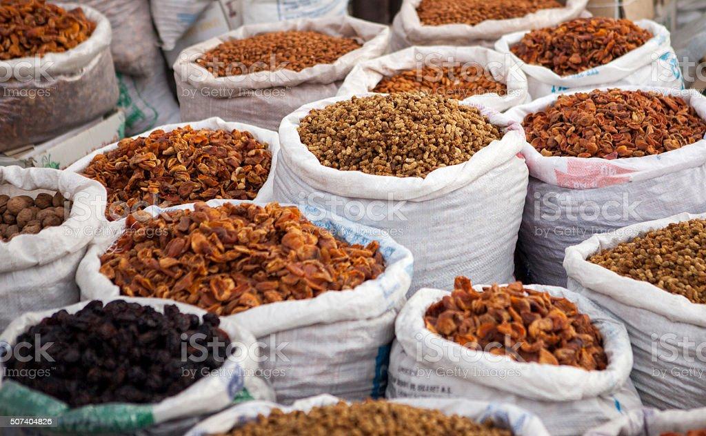 Sack of seeds stock photo