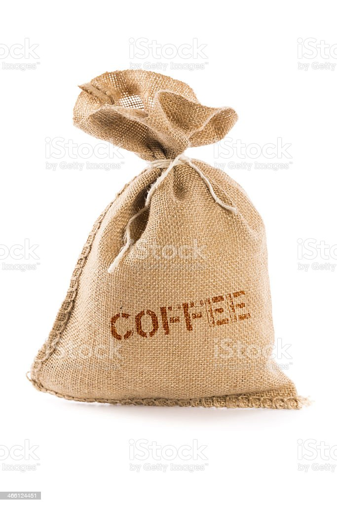 sack with coffee royalty-free stock photo