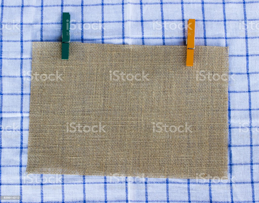 Sackcloth background texture with copy space stock photo