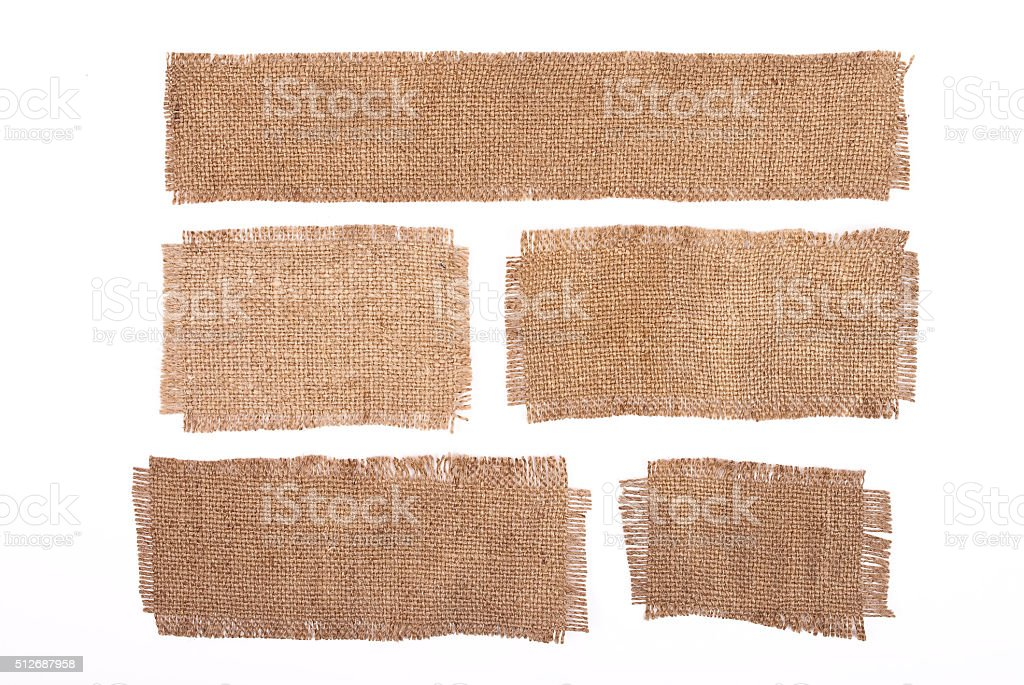 Sackcloth materials isolated on white stock photo