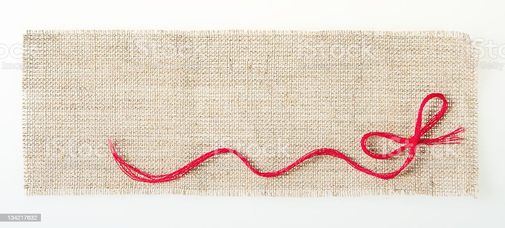 sackcloth tags with decor royalty-free stock photo