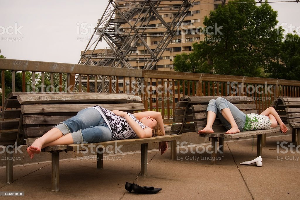 Sacked-out in the City royalty-free stock photo