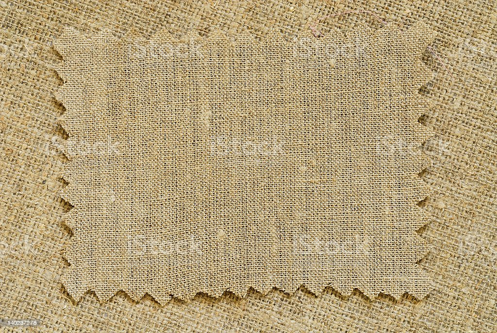 sacking patch stock photo