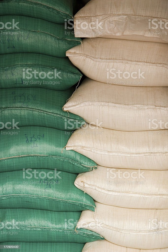 Sacks of grain stock photo