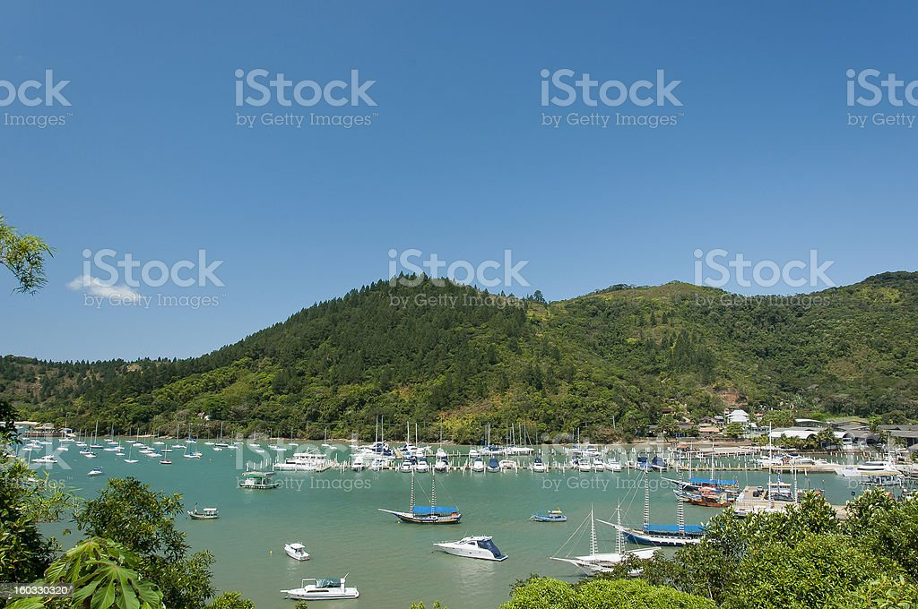 Saco da Ribeira - Ubatuba,SP stock photo