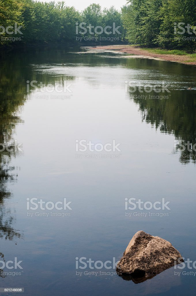 Saco River, Maine stock photo