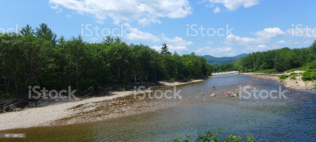 Saco River - North Conway, New Hampshire stock photo