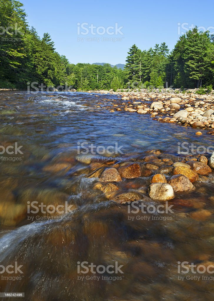Saco River Rapids stock photo