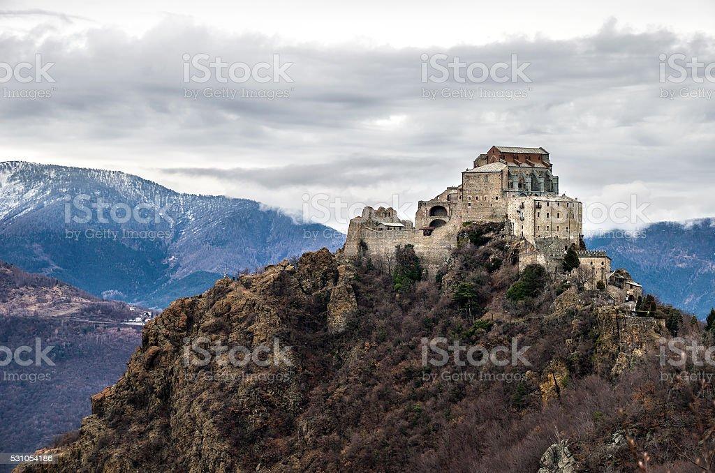 Sacra di San Michele abbey  val susa  Avigliana Turin  Piemonte stock photo