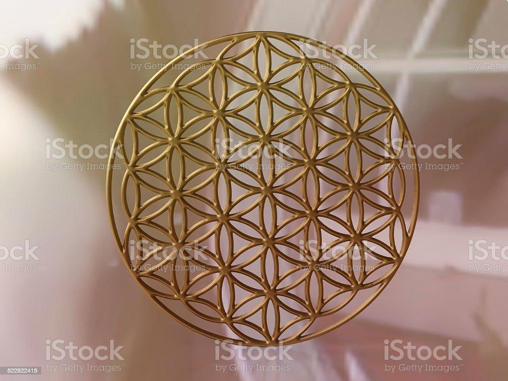 Sacral Symbol 'Flower of Life' stock photo