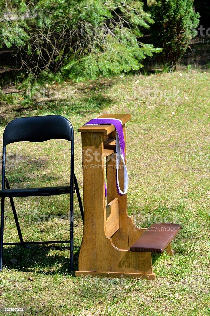 Sacrament of penance stock photo